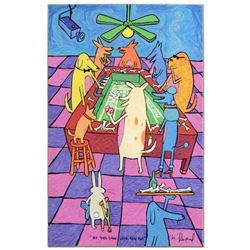 """""""My Dog Gone Luck Ran Out"""" Limited Edition Hand Pulled Original Lithograph By Matt Rinard, Numbered"""