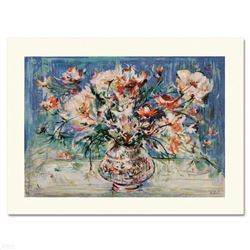 """Vita's Bouquet"" Limited Edition Serigraph by Edna Hibel (1917-2014), Numbered and Hand Signed with"