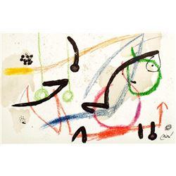"""Joan Miro- Lithograph """"Maravillas con variaciones acrosticas 07"""""""