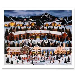 """Jane Wooster Scott, """"Alpine Winter Grandeur"""" Hand Signed Limited Edition Lithograph with Letter of A"""