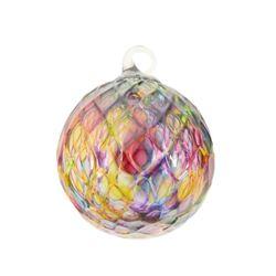 """Glass Eye Studios, """"Ornament (Rainbow Diamond Facet)"""" Hand Blown Glass Sculpture (Second)."""