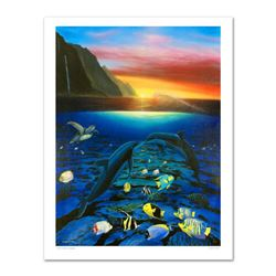 """Kiss for the Sea"" Limited Edition Giclee on Canvas (30"" x 40"") by Renowned Artist Wyland, Numbered"