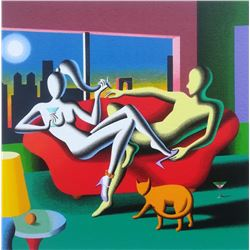 "Mark Kostabi ""Date Night"" Original Serigraph"
