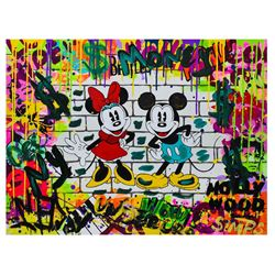 "Nastya Rovenskaya- Mixed Media ""Mickey & Minnie"""