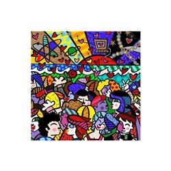 "Romero Britto ""New Looking into the Future"" Hand Signed Giclee on Canvas; Authenticated"