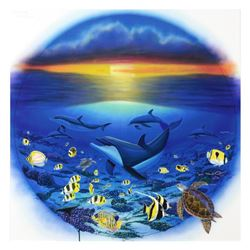 """Sea of Life"" Limited Edition Giclee on Canvas by renowned artist WYLAND, Numbered and Hand Signed w"