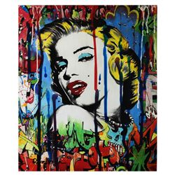 "Nastya Rovenskaya- Mixed Media ""Marilyn Monroe I"""
