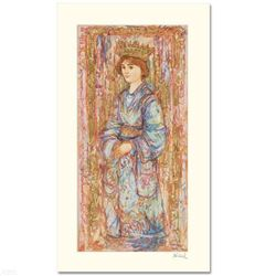 """Book of Hours II"" Limited Edition Serigraph by Edna Hibel (1917-2014), Numbered and Hand Signed wit"