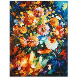 """Leonid Afremov (1955-2019) """"Magic Bouquet"""" Limited Edition Giclee on Canvas, Numbered and Signed. Th"""