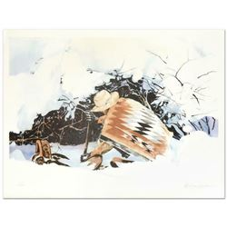 """William Nelson, """"Digging In"""" Limited Edition Lithograph, Numbered and Hand Signed by the Artist."""