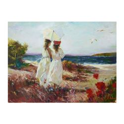 """Pino (1939-2010), """"Sister"""" Limited Edition Artist-Embellished Giclee on Canvas. Numbered and Hand Si"""