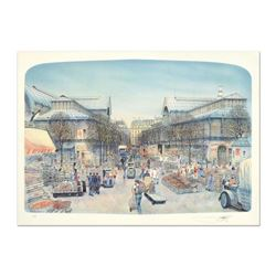"Rolf Rafflewski, ""Les Halles"" Limited Edition Lithograph, Numbered and Hand Signed."