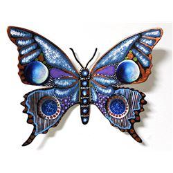 "Patricia Govezensky- Original Painting on Cutout Steel ""Butterfly CCXXVI"""