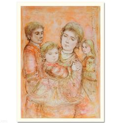 """Portrait of a Family"" Limited Edition Lithograph by Edna Hibel (1917-2014), Numbered and Hand Signe"
