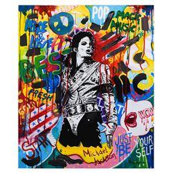 "Nastya Rovenskaya- Mixed Media ""King of Pop"""