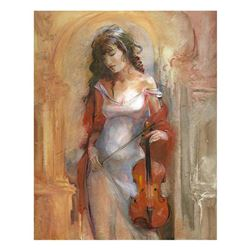 "Lena Sotskova, ""Modern Classic"" Hand Signed, Artist Embellished Limited Edition Giclee on Canvas wit"