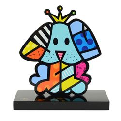 "Romero Britto""Royalty"" Hand Signed Limited Edition Sculpture; Authenticated."