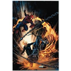 "Marvel Comics ""Amazing Spider-Man/Ghost Rider: Motorstorm #1"" Numbered Limited Edition Giclee on Can"