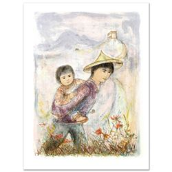 """The Great Wall"" Limited Edition Lithograph by Edna Hibel (1917-2014), Numbered and Hand Signed with"