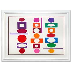 "Yaacov Agam- Original Screenprint in colors on Arches paper ""Double Metamorphosis III"""