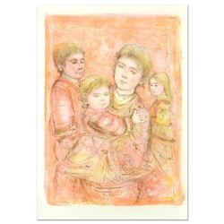 "Edna Hibel (1917-2014), ""Portrait of a Family"" Limited Edition Lithograph, Numbered and Hand Signed"