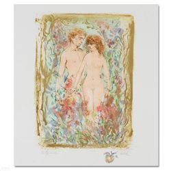 """""""The First Couple"""" Limited Edition Lithograph by Edna Hibel (1917-2014), Numbered and Hand Signed wi"""