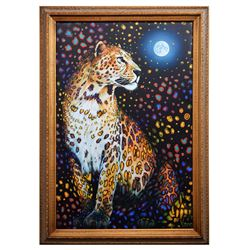"""Vera V. Goncharenko- Original Giclee on Canvas """"Looking At The Moon"""""""