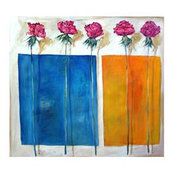"""Lenner Gogli, """"Coming Up Roses"""" Limited Edition on Canvas, Numbered and Hand Signed with Letter of A"""