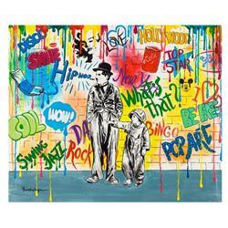 "Nastya Rovenskaya- Original Oil on Canvas ""Wanna be like Chaplin"""