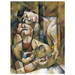 "Yuroz, ""Lover's Serenade"" Hand Signed Limited Edition Serigraph on Canvas with Certificate of Authen"