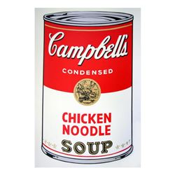 "Andy Warhol ""Soup Can 11.45 (Chicken Noodle)"" Silk Screen Print from Sunday B Morning."