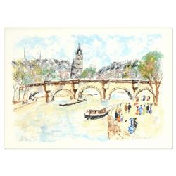 "Urbain Huchet, ""Seine"" Limited Edition Lithograph, Numbered and Hand Signed."