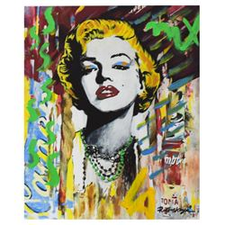 "Nastya Rovenskaya- Mixed Media ""Marilyn Monroe II"""