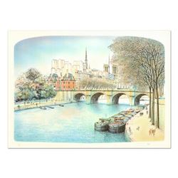 "Rolf Rafflewski, ""Seine II"" Limited Edition Lithograph, Numbered and Hand Signed."