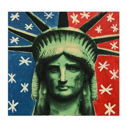 "Steve Kaufman (1960-2010), ""Liberty Head"" Hand Unique Variation Edition Hand Pulled Silkscreen on Ca"