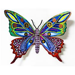 "Patricia Govezensky- Original Painting on Cutout Steel ""Butterfly CCLXXX"""