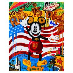 "Nastya Rovenskaya- Mixed Media ""Back in the U.S.A"""