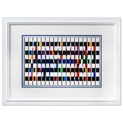 "Yaacov Agam- Original Lithograph ""Untitled"""