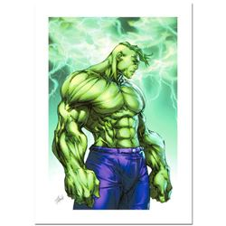 """Stan Lee Signed, """"Hulk #7"""" Numbered Marvel Comics Limited Edition Canvas by Michael Turner (1971-200"""
