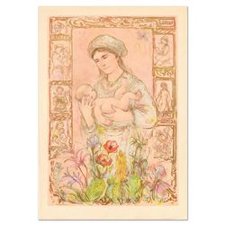 """Edna Hibel (1917-2014), """"Raquela"""" Limited Edition Lithograph on Rice Paper, Numbered and Hand Signed"""