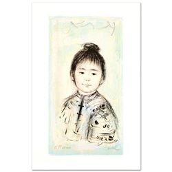 """""""Nina"""" Limited Edition Lithograph by Edna Hibel (1917-2014), Numbered and Hand Signed with Certifica"""