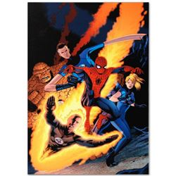 """Marvel Comics """"The Amazing Spider-Man #590"""" Numbered Limited Edition Giclee on Canvas by Barry Kitso"""