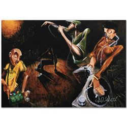 """""""The Get Down"""" Limited Edition Giclee on Canvas (36"""" x 24"""") by David Garibaldi, E Numbered and Signe"""