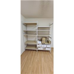 2' X 6' X 7' SHELVING UNIT COMES WITH 11 SHELVES REALLY GOOD CONDITION