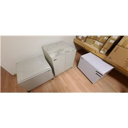 SHARP PAPER STORAGE CABINETS QTY 3 ASSORTED SIZES