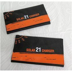 Qty 2 Solar 21 Charger 3 Fold USB Charging Board