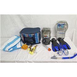 Beach Lot:  Fins, Snorkels, Masks, Lotions, Towels, Cooler Bag, etc