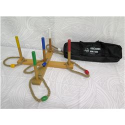 Yard Gamers Wooden Ring Toss Game with Carrying Case