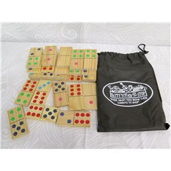 Matty's Toy Shop Large Wooden Dominos Game with Carrying Case