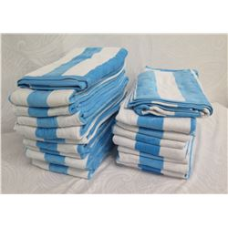 Qty 15+ Blue & White Striped Towels
